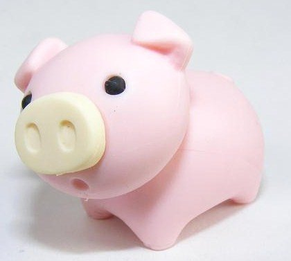Japanese Iwako Eraser - Pig (Colors may vary) - 1