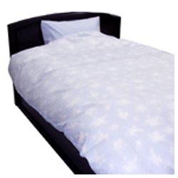 生毛工房(うもうこうぼう) 綿ローン掛ふとんカバー ダブルサイズ(綿100%/190×210cm/ブルー)