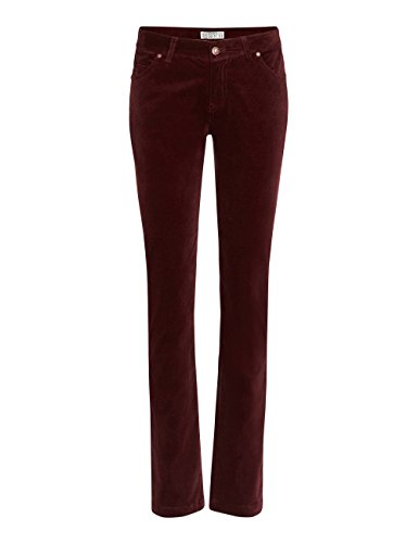Brigitte von Boch - Donna - Hanley Pantaloni di velluto rosso bordeaux, Größe Mode 34-44 M1:44