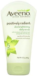 Aveeno Positively Radiant Skin Brightening Daily Scrub, 5 Ounce