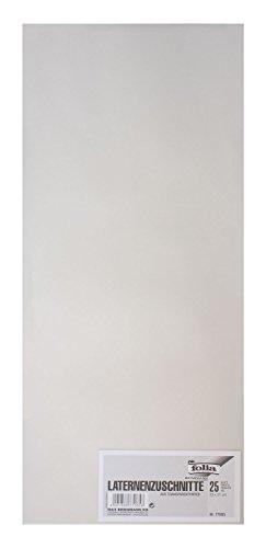 Folia 77085 - Transparentpapier, 22 x 51 cm, 25 Bogen, weiß