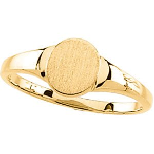 14K Yellow Gold Signet Ring Size: 12