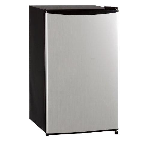 Midea Hs-120L Compact Single Reversible Door Refrigerator With Freezer, 3.3 Cubic Feet