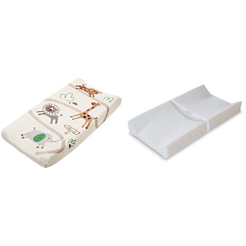 Summer Infant Ultra Plush Change Pad Cover, Safari and Contoured Changing Pad - 1