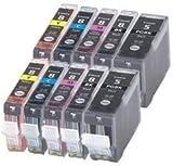 10 Pack compatible Ink PGI-5BK,