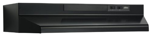 Broan F403023 30-Inch Two-Speed 4-Way Convertible Range Hood, Black