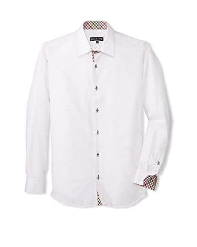 Jared Lang Men's Solid Sport Shirt with Contrast Trims