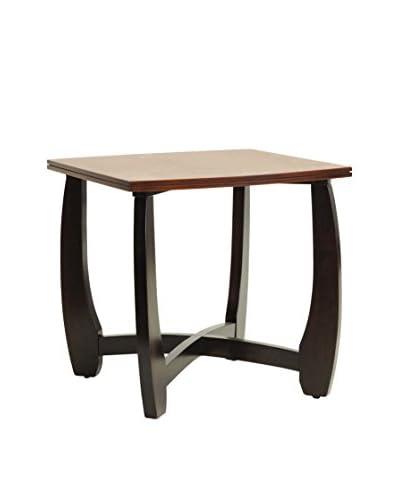Baxton Studio Straitwoode End Table, Cherry/Dark Brown