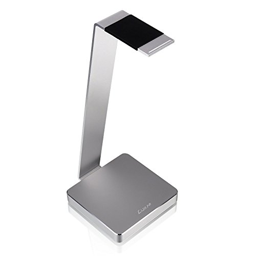 LUXA2 HO-HDP-ALE1SI-00 E-One Aluminum Headphone Stand for Beats, Sony, Sennheiser, Philips, Skull Candy, Plantronics, Bose, JVC, Gaming, and DJ. Silver
