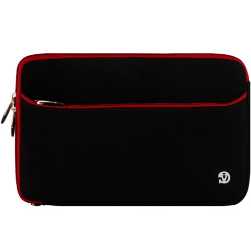 "Laptop Notebook Sleeve For Hp Pavilion 15.4"" 17"" 12.1"" 14"" Hp Envy 13"" Hp Mini 10"" Notebook Sleeves, 17"", Black With Red+ Bestpricecenter Mouse Pad front-924331"