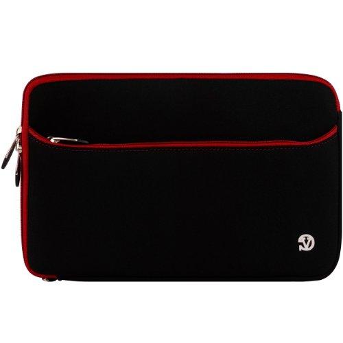 Red Trim Durable Neoprene Protective Laptop Sleeve Cover For Toshiba C675 / C675D / L775 / L775D / L770 / L770D / P775 / P770 / P775D / L875D / S875 / S875D / C875D / C875 / C870 / L870 / L870D / L875 / P875 / P870 / X775 / X875 / X870 17.3 Inch Laptop Mo