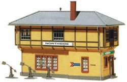 Model Power HO Scale Building Kit - Railroad Signal Building