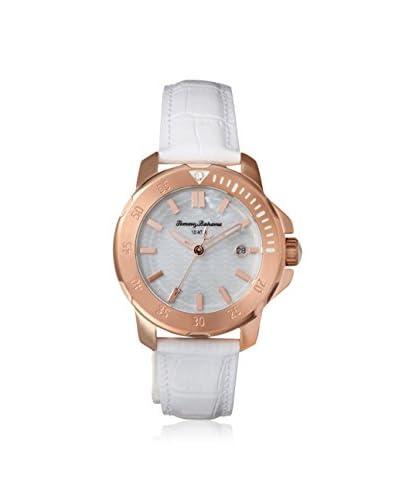 Tommy Bahama Women's 10018300 Laguna Crystal White Leather Watch