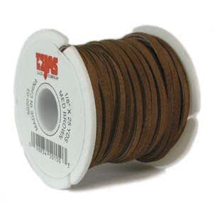 UnCommon Artistry Genuine Split Suede Leather Lace Cord 3mm Brown (By the Yard)