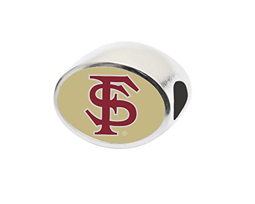 Florida State University Bead Fits Large Hole Bead Bracelets Like Pandora, Chamilia, Biagi, Zable, Troll