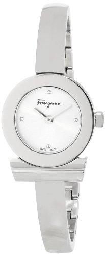 Ferragamo Women's FQ5010013 Gancino Bracelet Stainless Steel Bracelet Silver Sunray Dial Watch