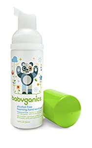 Babyganics Alcohol-Free Foaming Hand Sanitizer, Fragrance Free, On-The-Go, 50 ml (1.69-Ounce) Bottles (Pack of 3), Packaging May Vary