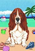 Basset Hound by Tomoyo Pitcher, Summer Themed Dog Breed Flags 28'' x 40''