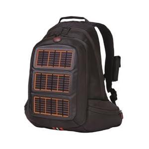Solar Charging Backpack, Orange Panels