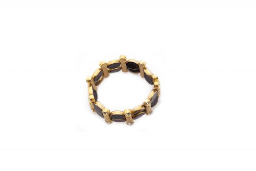 Blueberry Black & Gold stylish Bracelet for Women (multicolor)