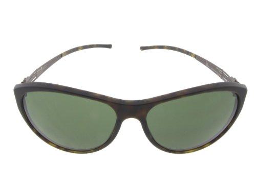 ic! Berlin Sunglasses Superfluid Pit Havana Matte / Chocolate with Green Nylon Lenses