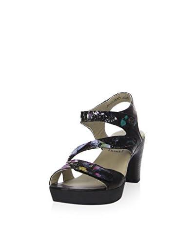 Think! Sandalo Con Tacco [Nero/Multicolore]
