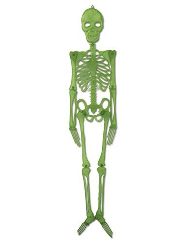 4' Green Hanging Plastic Skeleton Creepy Halloween Decoration