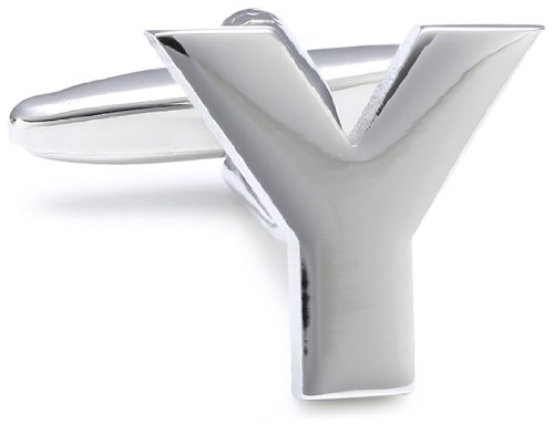 Teroon Unisex Cufflinks Brass Letter