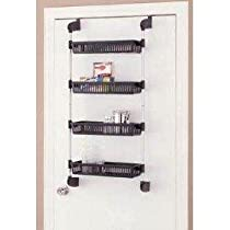 4 Basket Unit Organize It All Over The Door With Hooks