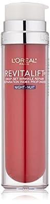 L'Oreal Paris RevitaLift Deep-Set Wrinkle Repair Night Lotion, 1.7 Fluid Ounce