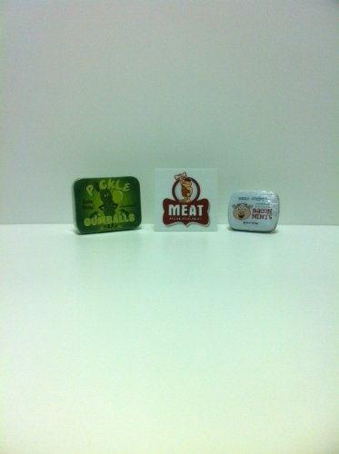 MEAT MANIAC Exotic Candy Combo Gift Pack with Sticker- Pickle Gumballs & Bacon Mints (Meat Flavored Candy compare prices)