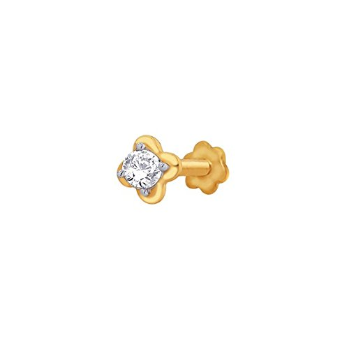 Sangini Sangini 18K Yellow Gold Diamond Nose Pin (Multicolor)