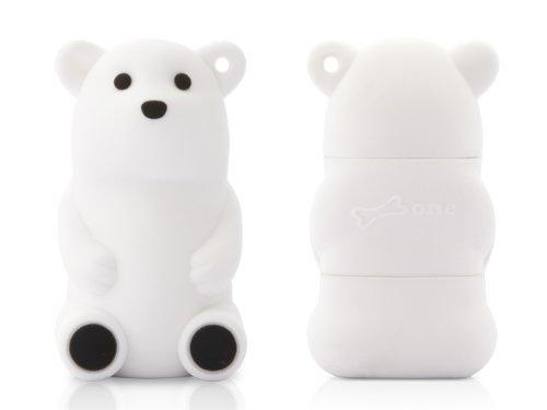 Bone Collection White Bear 4Gb Usb 2.0 Flash Drive, Model: Dr11051-4W Retail
