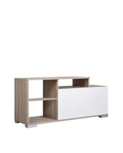 Kenyap Mueble Para TV Nasya Blanco / Marrón 135 x 59 x 45