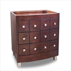 Lyn Design VAN038 Chelsea Metro Collection 30 Inch Single Sink Bathroom Vanity Cabinet, Espresso