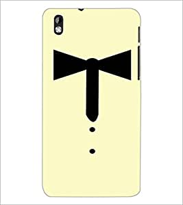 PrintDhaba Collar Ribbon D-3353 Back Case Cover for HTC DESIRE 816 (Multi-Coloured)