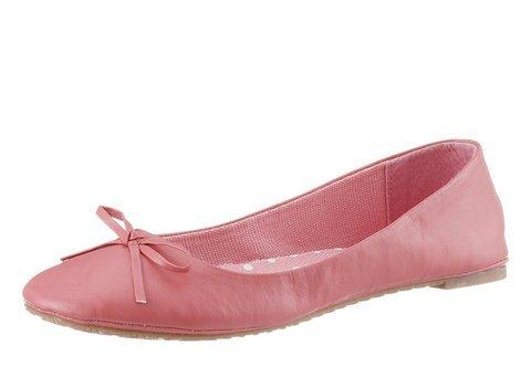 City Walk Ballerina Halbschuhe Damen Schuhe Slipper Coralle (41 EU) thumbnail