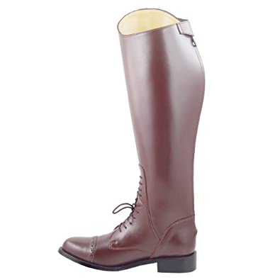 Victory Ladies Field Boots tall english riding Brown, Color:Brown Calf:Regular, 6