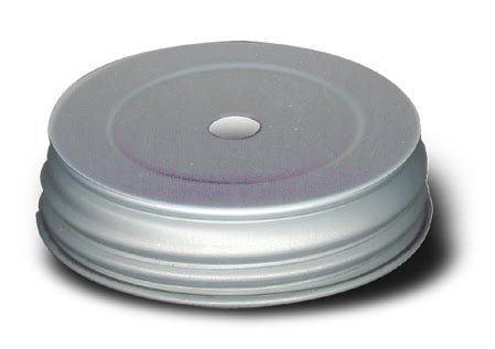 Pre-Drilled Mason Jar Lid For Oil Lamps, Soap Dispensers And Other Crafts (Pkg/5) (Drilled Mason Jar Lids compare prices)