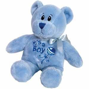 Beanie Bear, Baby Boy Announcement -8 Inch/Birth