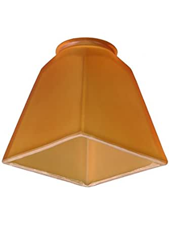 pyramid shade with 2 1 4 fitter ceiling fan lamp shades light. Black Bedroom Furniture Sets. Home Design Ideas