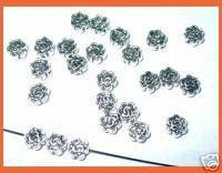 Lyndie's Craft Tibetan Silver rose spacer beads. x 20