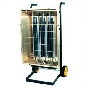 Tpi Corporation Fhk6243A Portable Electric Infrared Heater, Metal Sheath, Single Or Three Phase, 6Kw, 240V
