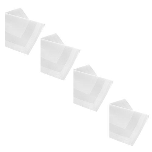 DAMAST Tischdecke 6 x Servietten 50x50 cm Weiss Atlaskante 100% Baumwolle Tischwäsche Tablecloths von DecoHometextil