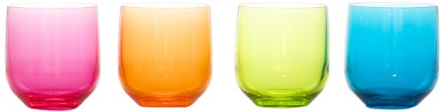 Idelice AR596 720A Lot de 4 Verres en Acrylique Rose/Orange/Vert/Bleu 320 ml