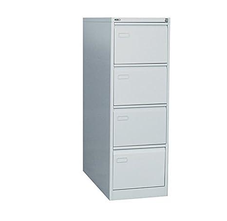Blue Box 4 Drawer Steel Filing Cabinet - Black