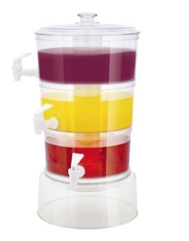 Useful UH-BD152 3 Tier Stackable Beverage Dispenser With Fruit Infuser And Ice Tube