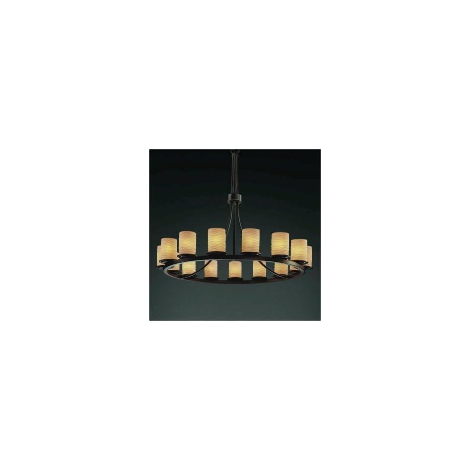 Justice Design Group POR 8715 Dakota 15 Light 1 Tier Ring Chandelier