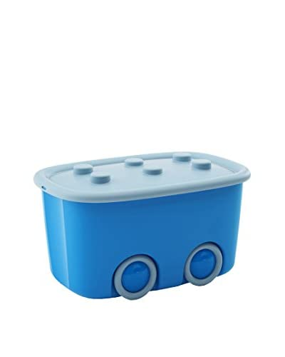 KIS Set Contenitore Organizzazione Spazi 6 pezzi Funny Box Alto L Blu