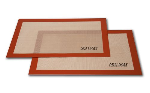 "Artisan (2 pk.) Non-Stick Silicon Baking Mat Set. 16 5/8"" x 11"""